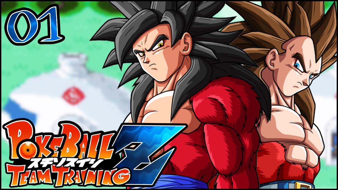 Dragon Ball X Pokemon Pokeball Z Dragon Ball Z Team Training Rom Hack Episode 1 Youtube