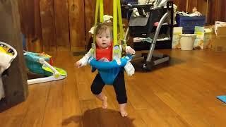 6 month old in the Evenflo ExerSaucer Doorway Jumper
