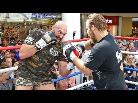 Tyson Fury FULL  PUBLIC WORKOUT in Belfast vs Francesco Pianeta Fight | Frank Warren Boxing