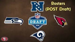 Gambar cover 49ers vs NFC West Rosters (Post-Draft, 2018)