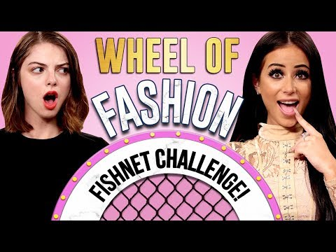 FISHNET TIGHTS CHALLENGE?! Wheel Of Fashion W/ Amber Scholl & Allie Marie Evans