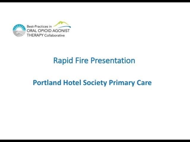Portland Hotel Society Rapid Fire Presentation