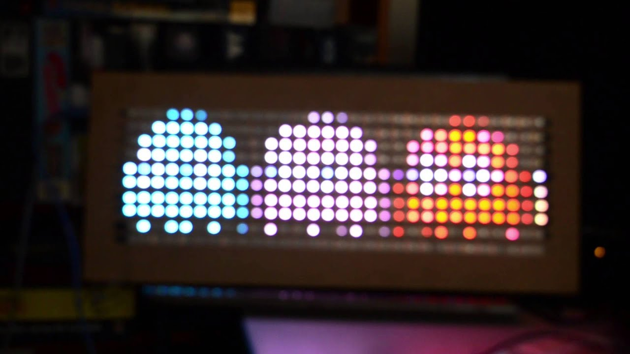 Arduino powered rgb led display an brief how to