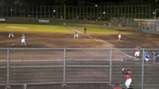 2009年6月12日 9回に登板した吉田えり投手の投球。 1死3塁 2番山本...