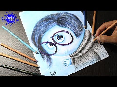 como dibujar a tristeza de Inside Out l how to draw sandess l