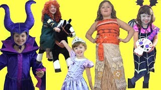 Disney Princess KIDS COSTUME RUNWAY SHOW Frozen Moana Vampirina Cinderella &More |Best of Dress Up!