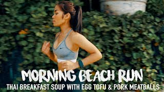 RUNNING & FOOD MOTIVATION | TIP: How to make a Healthy High-Protein Thai soup with Tofu | Recipe #21