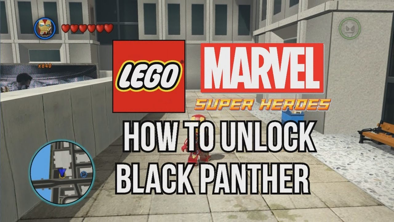 How To Unlock Black Panther Lego Marvel Super Heroes Youtube