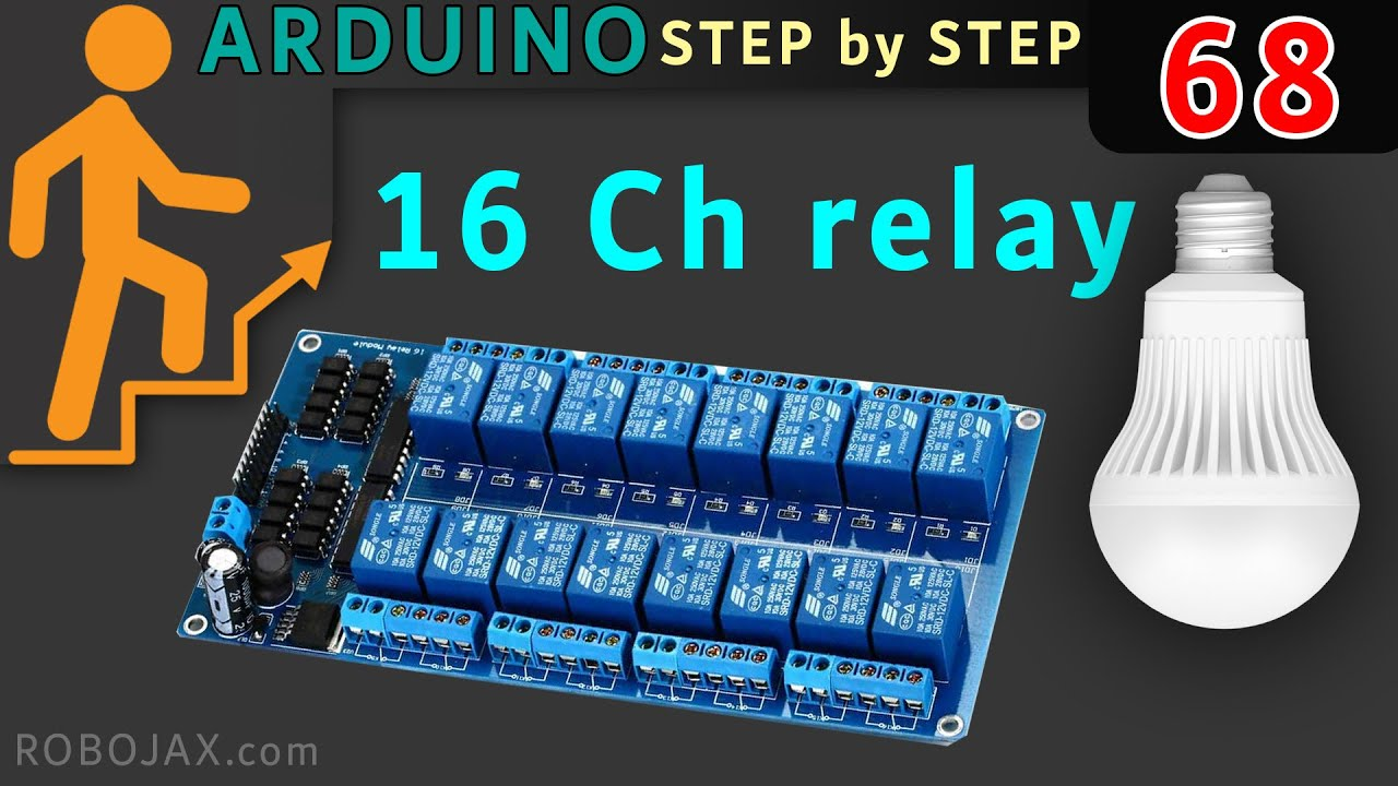 how to control 16 channel relay module using arduino [ 1280 x 720 Pixel ]