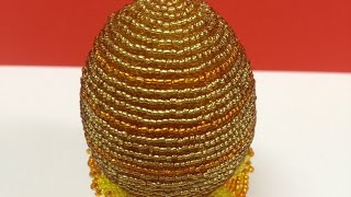 Пасхальное яйцо из бисера (рядами). Beaded Easter Egg, Very easy! Бисер с Анной