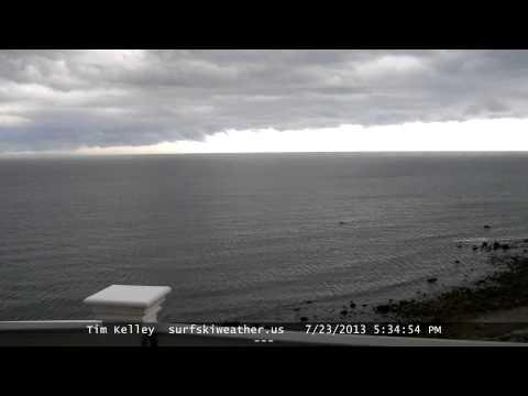 Massachusetts Bay Thunderstorm & Rainbow Time Lapse July 23 2013