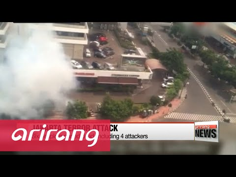 Jakarta rocked by bomb blasts and ensuing gun battle