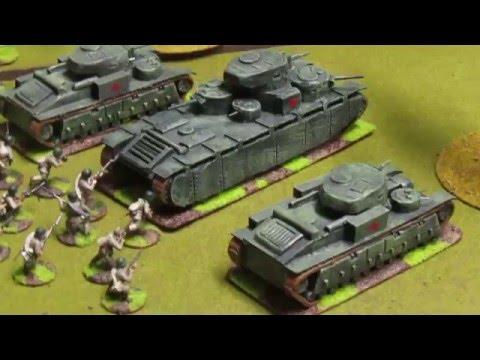 Bolt Action Battlereport 9   Tank Battle Russian vs Japanese