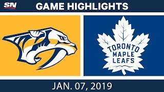 NHL Highlights | Predators Vs. Maple Leafs - Jan. 7, 2019