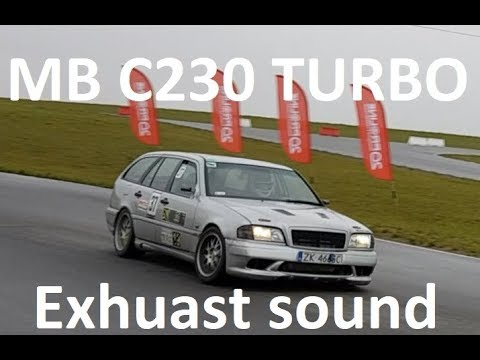"Mercedes 2.3 TURBO EXHAUST SOUND 3"" blow off wastegate boost m111 engine tuning w202 race track car"
