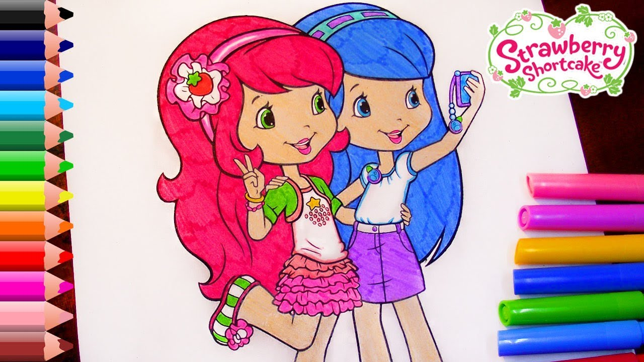 - Strawberry Shortcake Coloring Pages For Kids Strawberry Shortcake