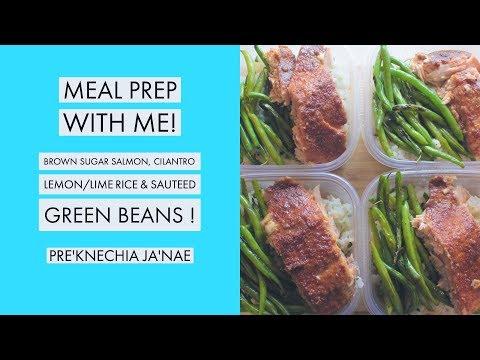 The Best Salmon Recipe ! Brown Sugar Salmon - Meal Prep W/ Me! | Pre'Knechia Ja'Nae