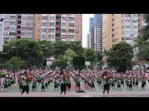 """HanoiStar - Bài tập thể dục """"Dân vũ rửa tay"""" của các con học sinh"""