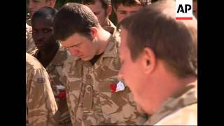 British soldiers in Helmand Province celebrate St George's Day