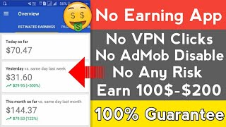 EARN 100$-200$ PER MONTH | No AdMob Suspend | High CPC | Latest AdMob Trick!