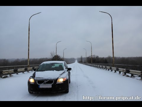 A winter drive through the Chernobyl Zone