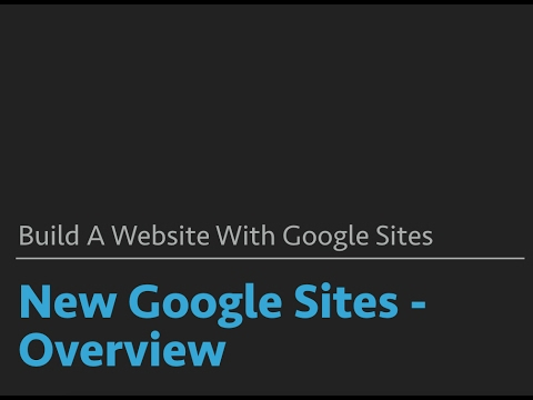 Google Sites - New Sites Overview - YouTube
