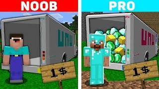 Minecraft NOOB vs PRO : NOOB AND PRO BOUGHT CAR FOR 1$! Challenge IN MINECRAFT!