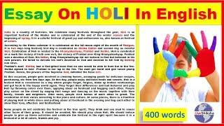 holi festival essay for class 1