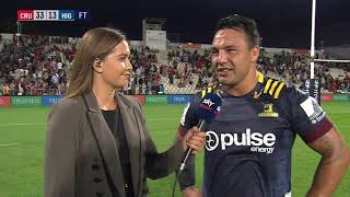 | SuperSport | Super Rugby | Crusaders v Highlanders  | Post-match interview with Ash Dixon