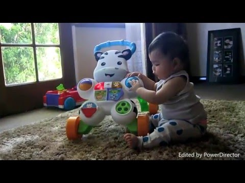 Play time with the Fisher-Price learn with me Zebra walker