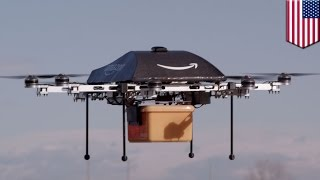 Repeat youtube video Amazon Prime delivery drones might be docking on lamp posts, power poles, cell towers - TomoNews