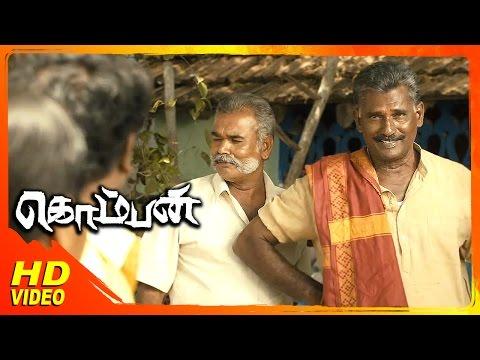 Komban Tamil Movie | Scenes | KovaiSarala & Karunas Seeks Lakhmi Menon's Hand For Karthi