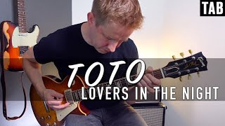 Toto - lovers In The Night   Guitar cover WITH TABS  