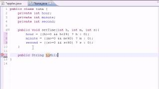 Java Video Tutorial Part 36 |  Time Class