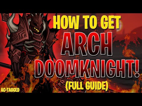 AQW - ARCH DOOMKNIGHT FULL Walkthrough (INSANE FARMING) AC-TAGGED + ITEM Showcase!