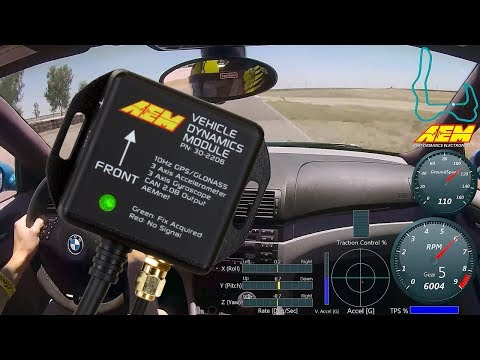 AEM Electronics Vehicle Dynamics Module for Track Mapping & Chassis Data!