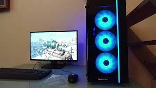 "LED RGB sur PC Gamer ""Rainbow Warrior"""
