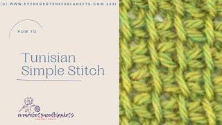 Tunisian Simple Stitch