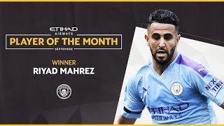 Etihad Player of the Month | Riyad Mahrez | September