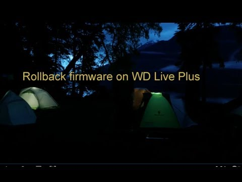 Rollback WD Live Plus Firmware