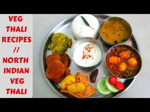 North Indian Veg Thali | Sunday Special Lunch/dinner Recipe | Rice Thali Recipe | Khushboocooks