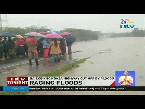 Raging floods render Nairobi-Mombasa road impassable