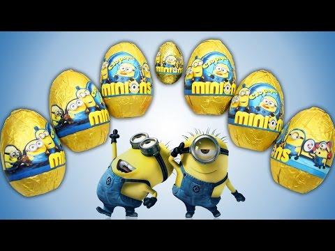 Видео: Киндер Сюрпризы Миньоны  Unboxing Surprise eggs Minions