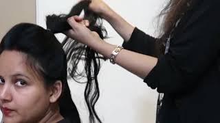 2 मिनट में पार्टी के लिए खूबसूरत नई हेयर स्टाइल / flower french bun hairstyle #HAIRSTYLES