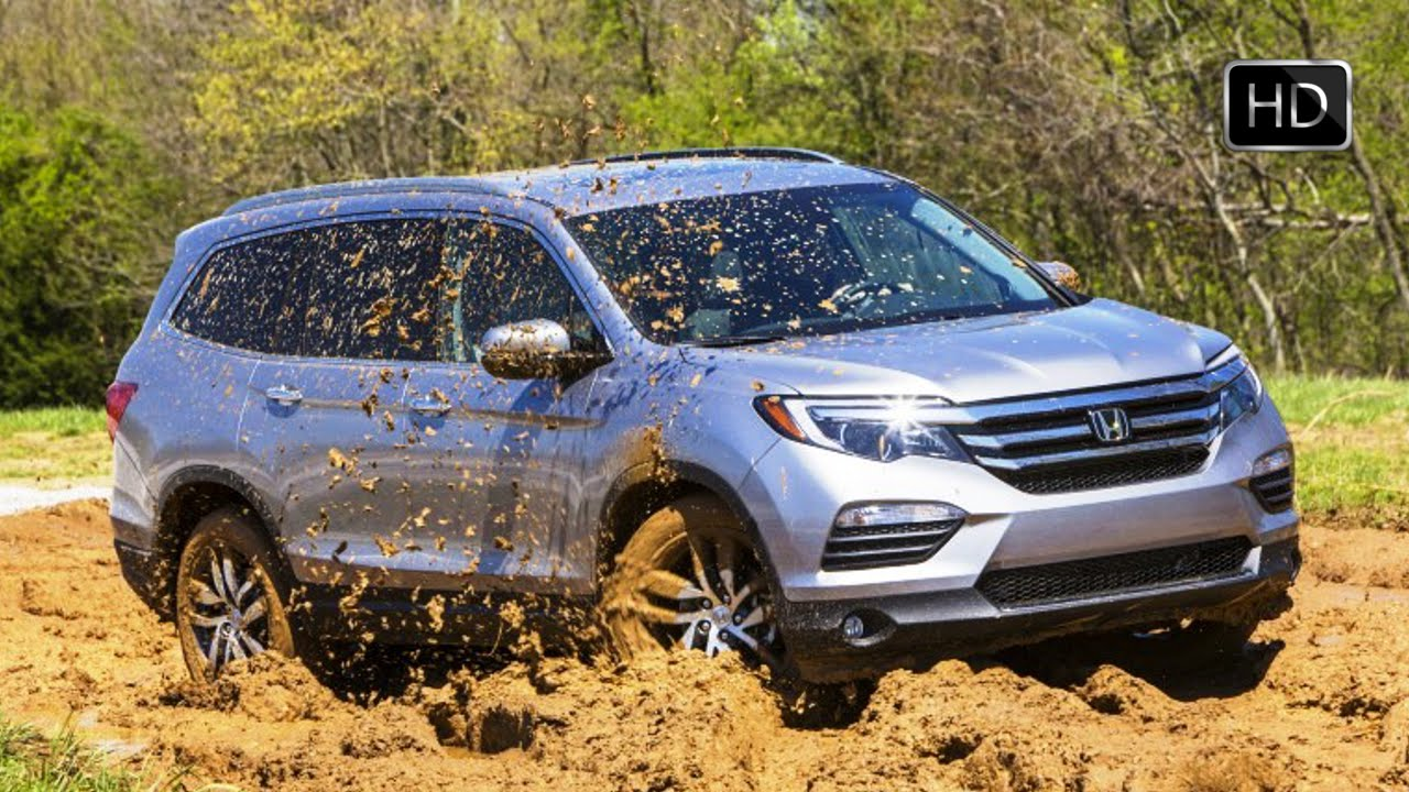 allnew 2016 honda pilot awd off road test drive in mud hd
