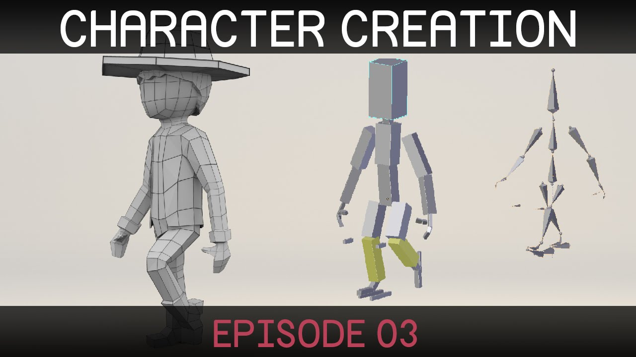 Blender Character Modeling Tutorial Beginner : Low poly man blender tutorial beginner mp speedy
