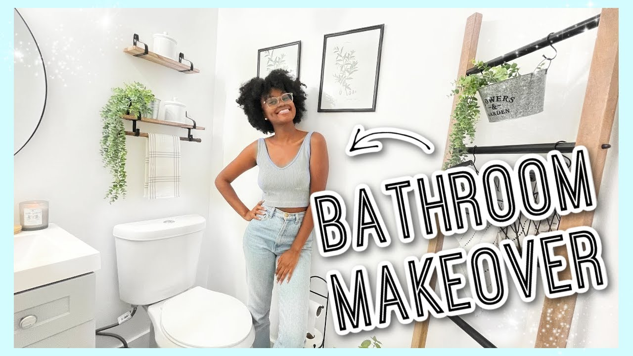 EXTREME SMALL BATHROOM MAKEOVER| Demolition, Full Gut, New Flooring & Decorate With Me #FIXERUPPER