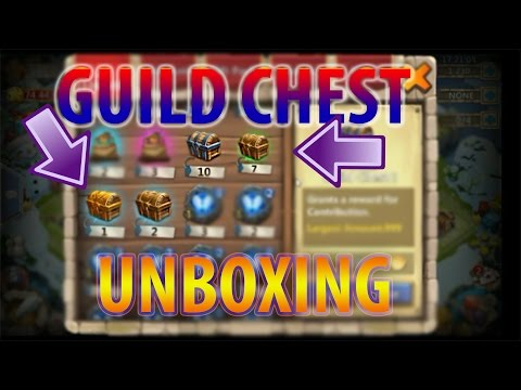 Unboxing 18 Guild Chest!! What Do You Guys Think Of Guild Chest? -CASTLE CLASH