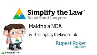 How to create a non disclosure agreement with simplifythelaw.co.uk