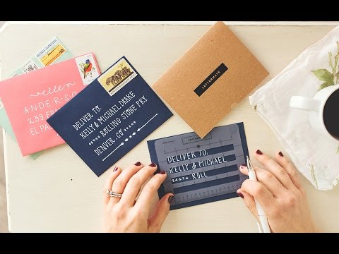 Envelope Address Template | Envelope Addressing Stencil The Grommet